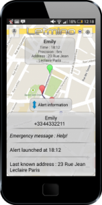 Tracking by GPS and Emergency message