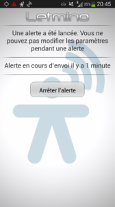 Alert message on your smartphone